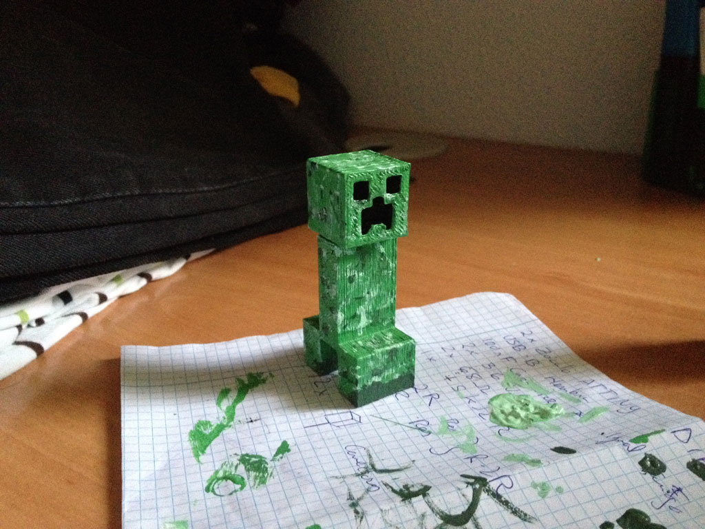Creeper 3D - Resultado final