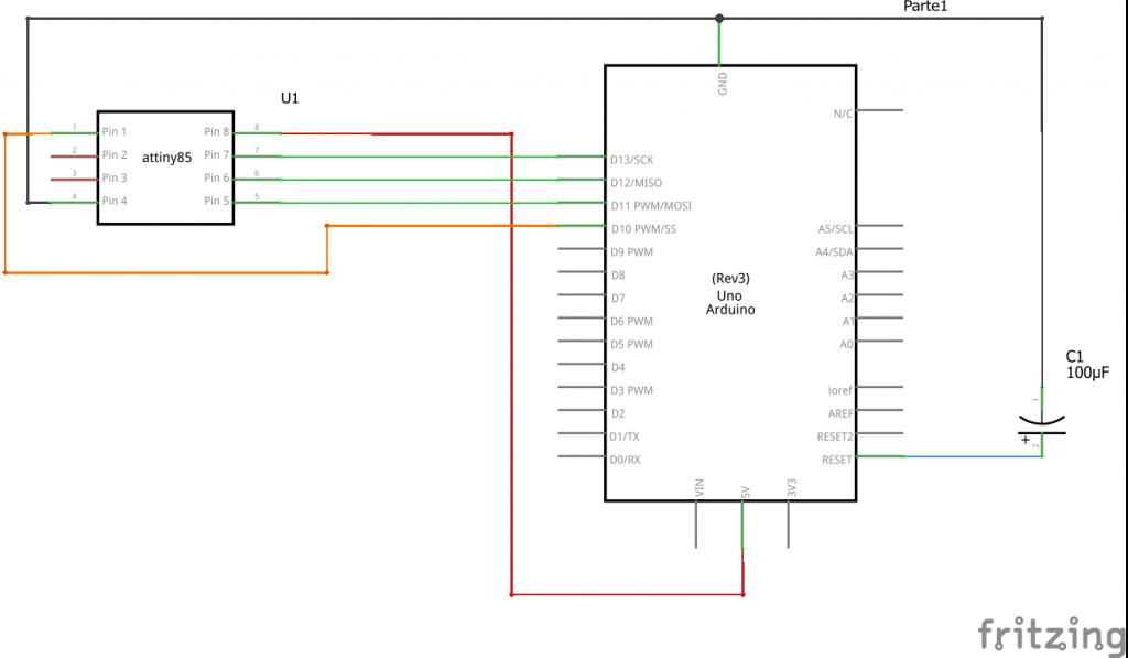 Diagrama circuito ATtiny