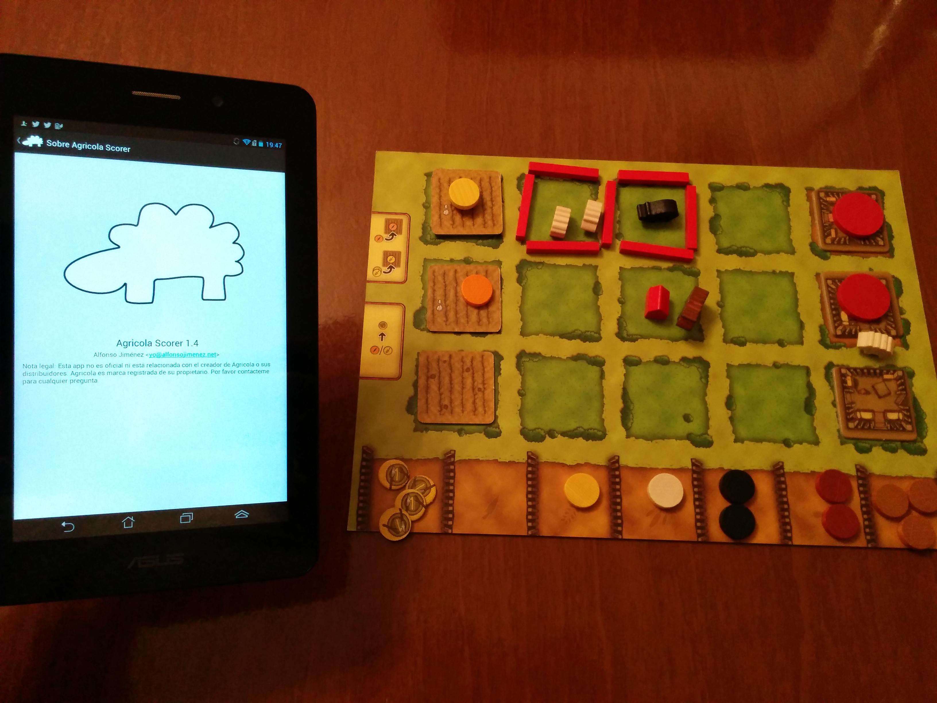 Mi primera aplicación Android: Agrícola Scorer