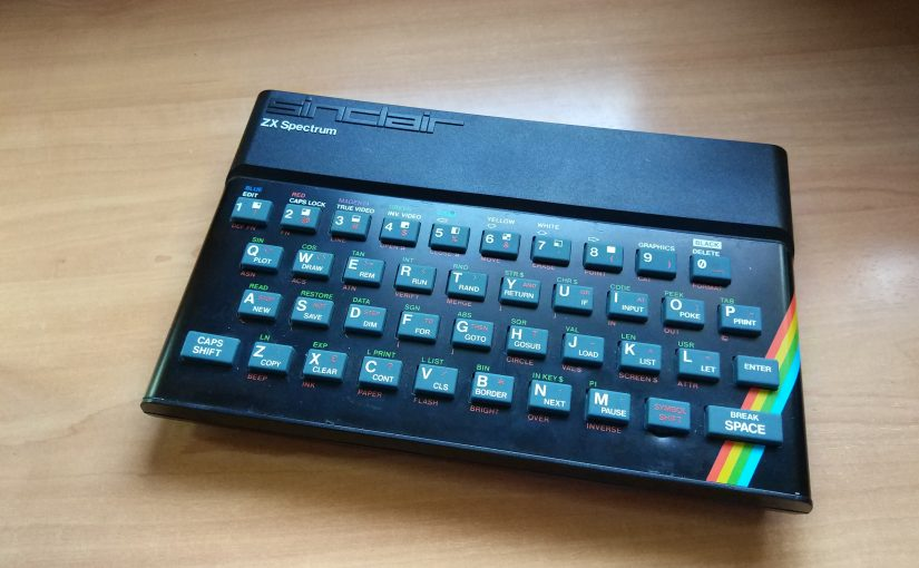 Probando un ZX Spectrum 16k